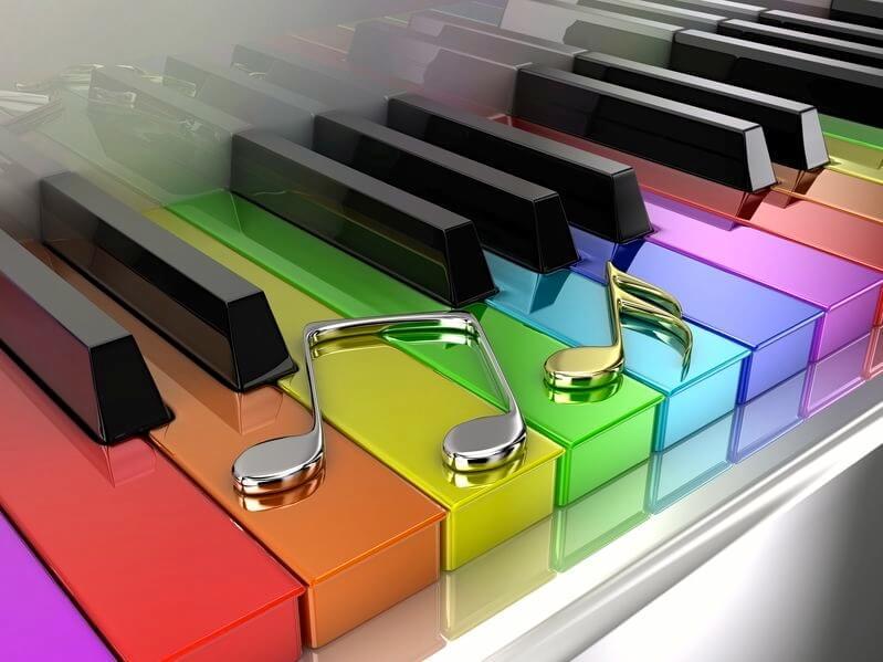 le clavier multi-color avec la méthode arc en ciel